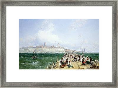 A View Of Margate From The Pier Framed Print by James Webb