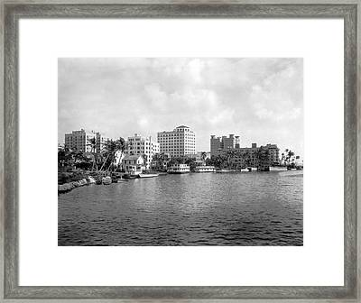 A View Of Miami Framed Print by Underwood Archives
