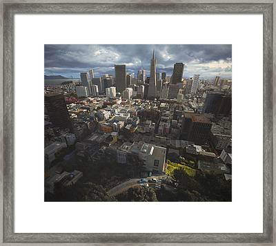 A View Of San Francisco Framed Print by TJ Mueller