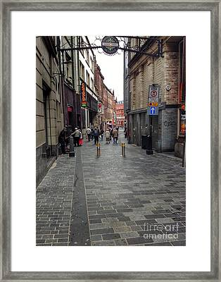 A View Of The Cavern Club Framed Print by Joan-Violet Stretch