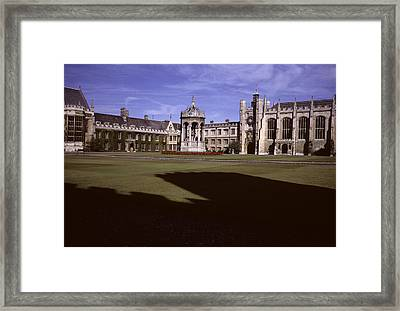 A View Of The Courtyard Of Trinity Framed Print by Taylor S. Kennedy