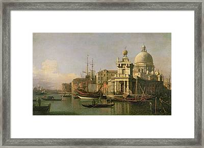 A View Of The Dogana And Santa Maria Della Salute Framed Print by Antonio Canaletto
