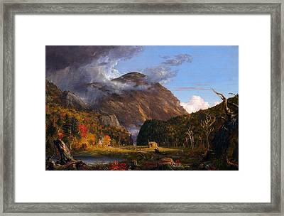 A View Of The Mountain Pass Called The Notch Of The White Mountans  Framed Print by Thomas Cole