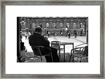 A View Of The Rathaus Mono Framed Print by John Rizzuto