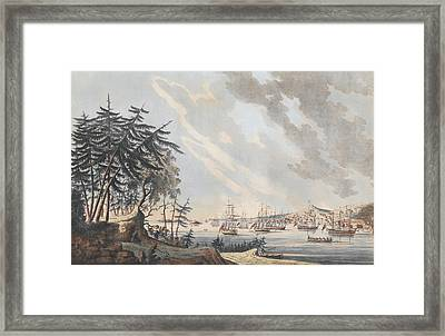 A View Of The Town And Harbour Of Halifax From Dartmouth Shore Framed Print by Joseph Frederick Wallet DesBarres