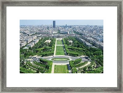 A View Paris France Eiffel Tower Art Framed Print by Reid Callaway