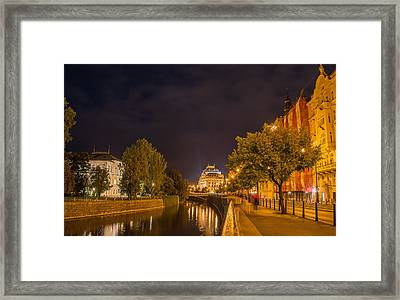 A View Toward The National Theatre - Prague Framed Print by Mountain Dreams