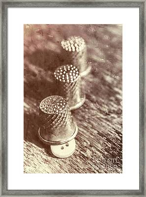 A Vintage Stitch Up Framed Print by Jorgo Photography - Wall Art Gallery