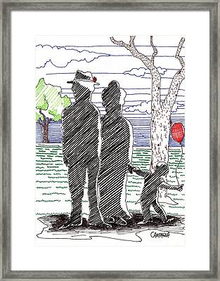 A Walk In The Park Framed Print by Teddy Campagna