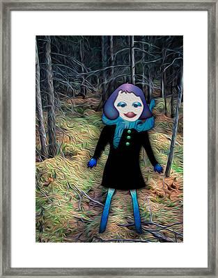 A Walk In The Woods Framed Print by Bonnie Follett