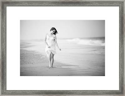 A Walk On The Beach Framed Print by Jae
