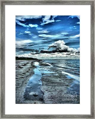 A Walk On The Beach Framed Print by Jeff Breiman