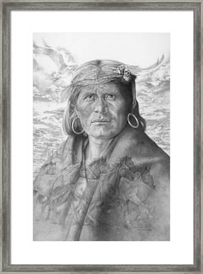 A Walpi Man - The Vanishing Culture Framed Print by Steven Paul Carlson