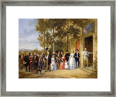 A Wedding At The Coeur Volant Framed Print by French School