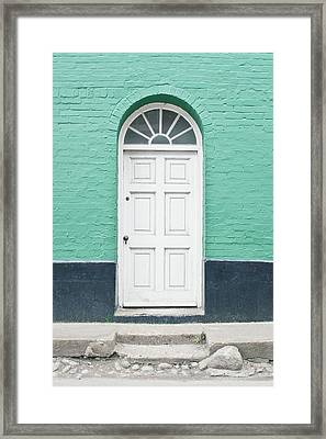 A White Door Framed Print by Tom Gowanlock
