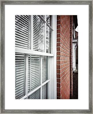 A Window Frame Framed Print by Tom Gowanlock