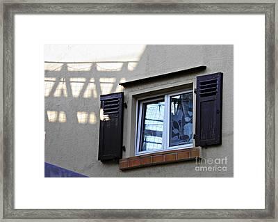 A Window In Schierstein 6 Framed Print by Sarah Loft