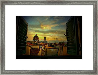 A Window On Florence Framed Print by Barbara Brown