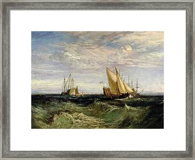 A Windy Day Framed Print by Joseph Mallord William Turner