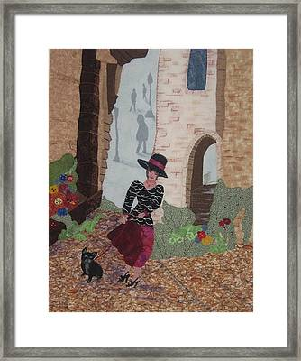 A Windy Paris Day Framed Print by Rhoda Forbes