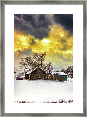 A Winter Eve 2 - Paint Framed Print by Steve Harrington