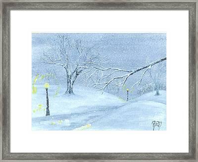 A Winter Walk... Framed Print by Robert Meszaros