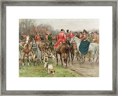A Winter's Morning Framed Print by Frank Dadd
