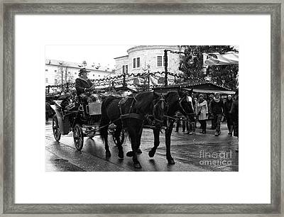 A Winter's Ride Framed Print by John Rizzuto