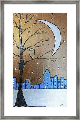 A Winter's Scene  Framed Print by Callan Percy