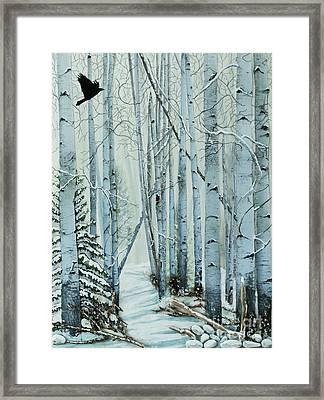 A Winter's Tale Framed Print by Stanza Widen