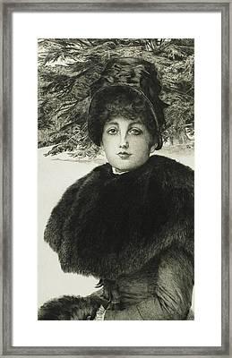 A Winter's Walk Framed Print by James Jacques Joseph Tissot