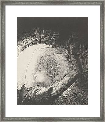 A Woman Clothed By The Sun Framed Print by Odilon Redon