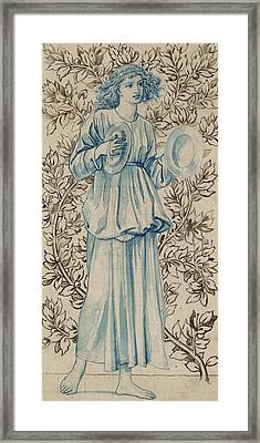 A Woman Playing Cymbals Framed Print by William Morris