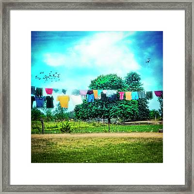 A Woman's Work Is Never Done Framed Print by Tammy Wetzel