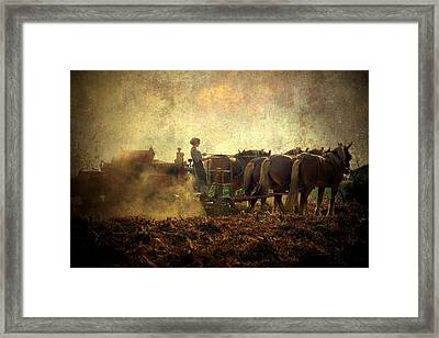 A Woman's Work Is Never Done Framed Print by Trish Tritz
