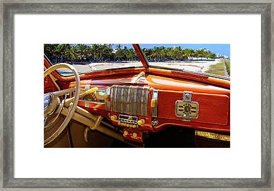 A Woodie At The Beach Framed Print by Gary Adkins