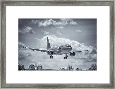 A320 On Approach Framed Print by Guy Whiteley