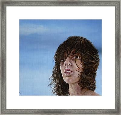 Aaron Framed Print by Adrienne Martino