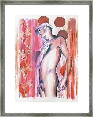 Dangerous Boys And Attraction Framed Print by Rene Capone