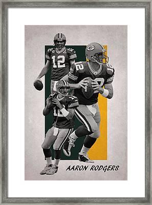 Aaron Rodgers Green Bay Packers Framed Print by Joe Hamilton