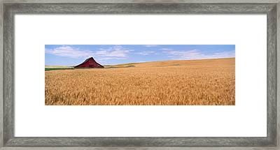 Abandoned Barn Nr Moscow Id Usa Framed Print by Panoramic Images