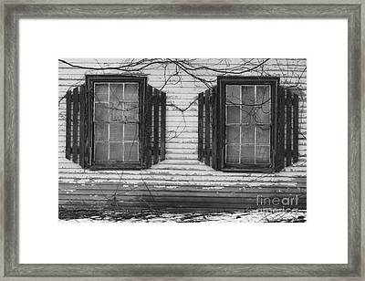 Abandoned Black And White Framed Print by Katie W