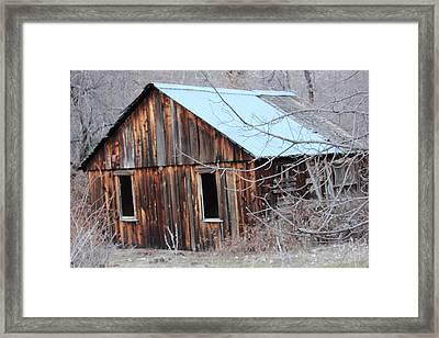 Abandoned Cabin 1 Framed Print by Linda Meyer