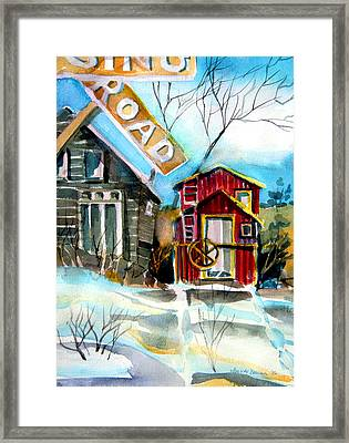 Abandoned Caboose Framed Print by Mindy Newman