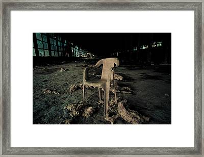 Abandoned Chair Framed Print by Luka Matijevec