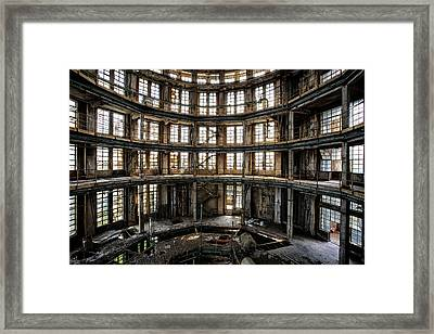 Abandoned Distillery Tower -industrial Decay Framed Print by Dirk Ercken