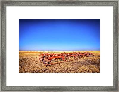 Abandoned Farm Equipment Framed Print by Spencer McDonald