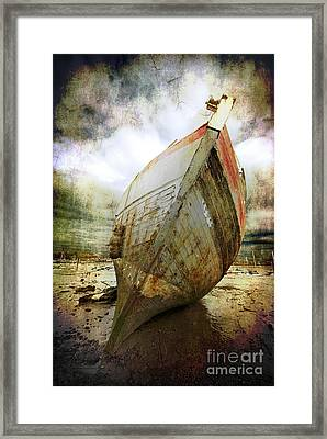Abandoned Fishing Boat Framed Print by Meirion Matthias