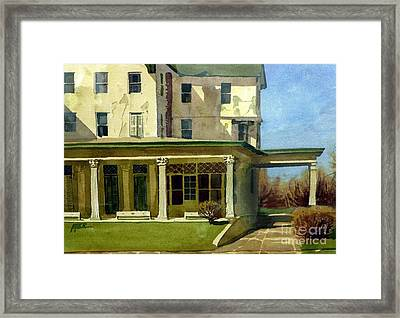 Abandoned Hotel Framed Print by Donald Maier