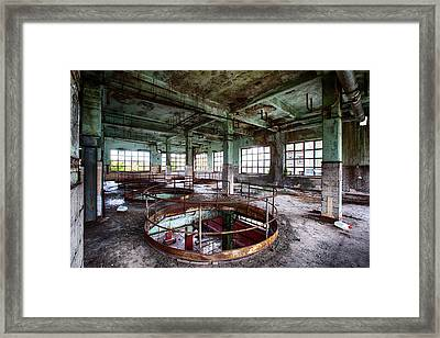 Abandoned Industrial Alcohol Distillery - Industrial Decay Framed Print by Dirk Ercken